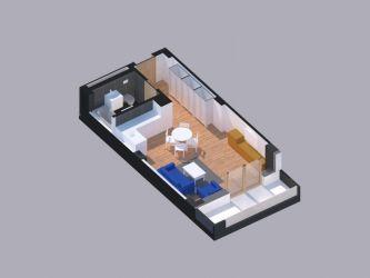 Apartament nou de vanzare, o camera Semidecomandat  Copou