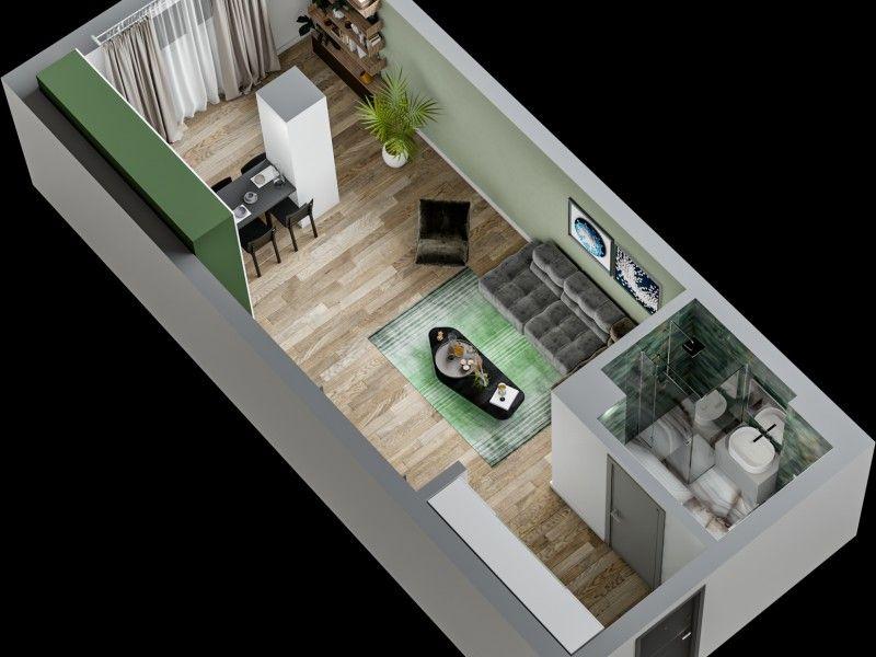 Apartament nou de vanzare, o camera   Tatarasi -1