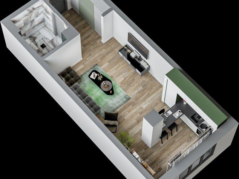Apartament nou de vanzare, o camera   Tatarasi -2
