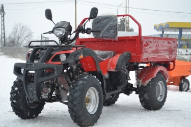 ATV Dumper 200 cc Cardan  REMORCA BASCULABILA CADOU CASCA 2019!!!!