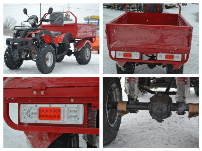 ATV Dumper 200 cc Cardan  REMORCA BASCULABILA CADOU CASCA 2019!!!!-8