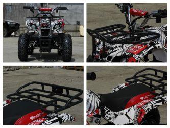 ATV electric pentru copii NITRO Torino Quad 1000W 48V GRAFITI #Alb