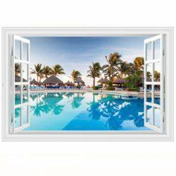 Autocolant sticker decorativ - fereastra 3d