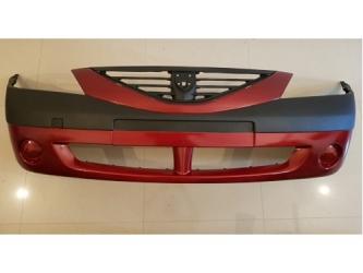 Bara fata fara proiectoare Dacia Logan 04 - 09 PH1 , vopsita rosu 21B