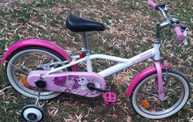 Bicicletă 16'' 500 docto girl copii 4-6 ani btwin