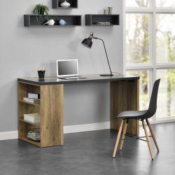 Birou design - 140cm x 68cm x 77cm - efect lemn / gri