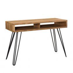Birou design cu compartiment depozitare - masa machiaj -metal - lemn