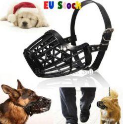 Botnita din Plastic pentru caini protectie botnita neagra sau bej