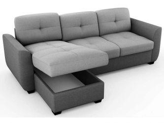 Canapea de colț convertibilă reversibilă cu 4 locuri
