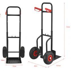 Carucior transport marfuri si bagaje ABWI-5206, 150 kg, otel