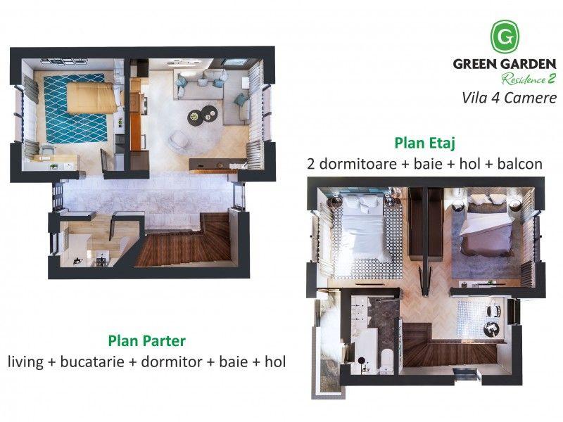 Casa nou de vanzare, 4 camere   Miroslava -1