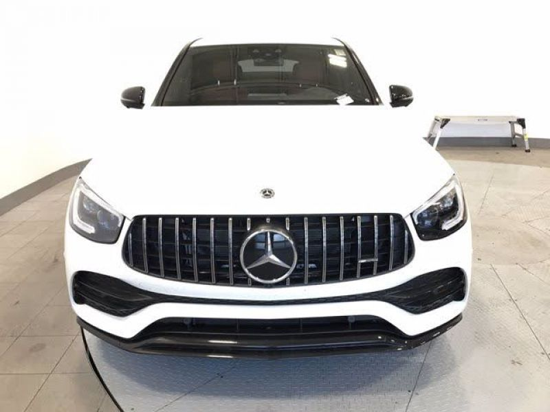 Clean 2020 Glc 43 AMG Coupe white color-1