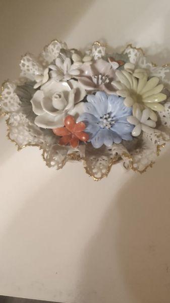 Cos flori. Portelan hand-made-1