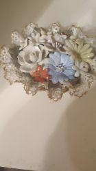 Cos flori. Portelan hand-made
