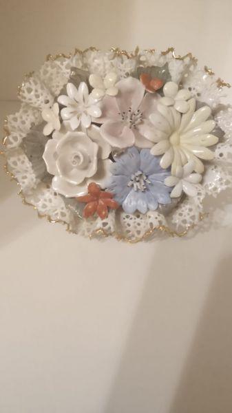 Cos flori. Portelan hand-made-2