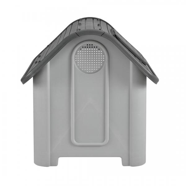 Cotet caine, PVC, 87 x 72 x 75,5 cm, gri/negru - cu trapa aerisire-3