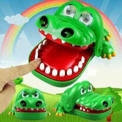 Crocodil Verde muscator, cu dinti , gura miscatoare surpriza