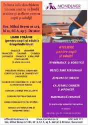 Cursuri limbi straine si ateliere educationale Bucuresti