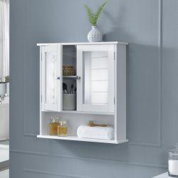 Dulap baie Beatrice, 58 x 56 x 13 cm, placa MDF, lacuit, alb