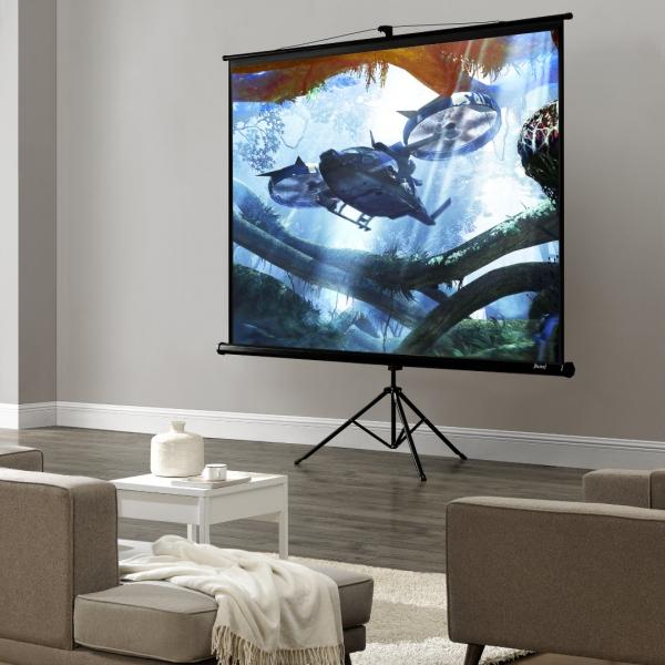 Ecran proiectie mobil ABCS-0712 cu suport trepied-1