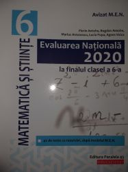 Evaluarea Națională 2020 la finalul cls a VI-a. Matematica