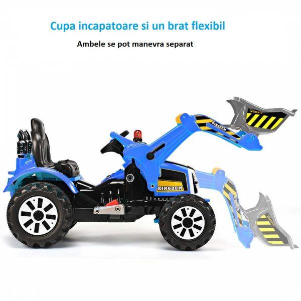 Excavator electric pentru copii Kinderauto BJS328A 2x45W 12V-4