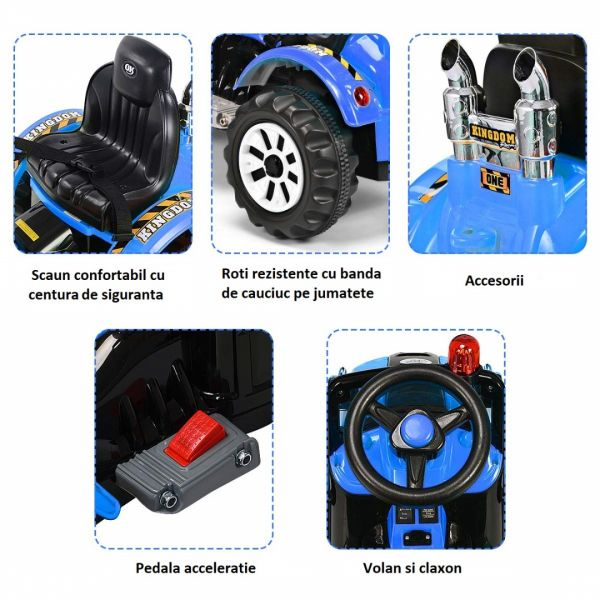 Excavator electric pentru copii Kinderauto BJS328A 2x45W 12V-6