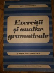 Exercitii si analize gramaticale clasele V-VII ,1976