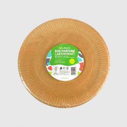 Farfurii biodegradabile rotunde 23 cm