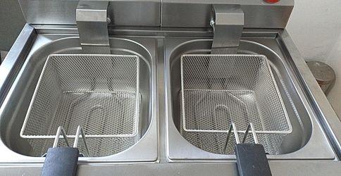 Friteuza dubla electrica
