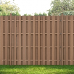 Gard gradina AAWP-991x WPC, 185 x 193 cm, lemn/plastic, maro