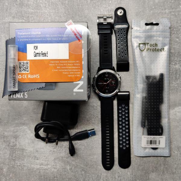 Garmin Fenix 5, HR, GPS, 2 curele rezerva, 6 luni garantie-4