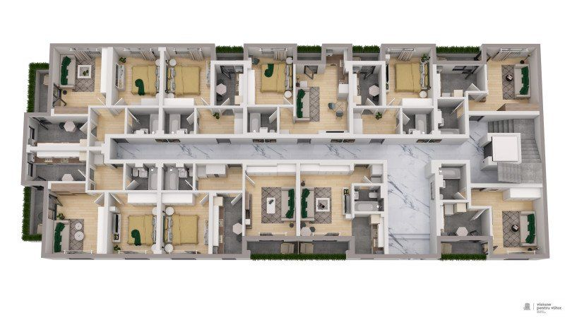 Garsoniera finalizata zona Militari Residence-2