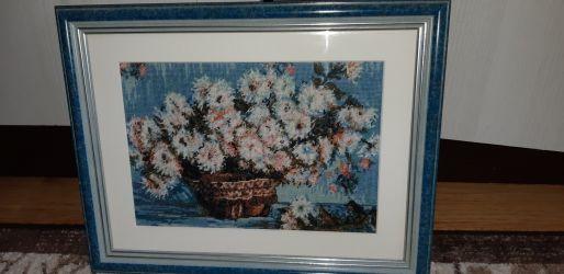 Goblen după Monet-Crizanteme