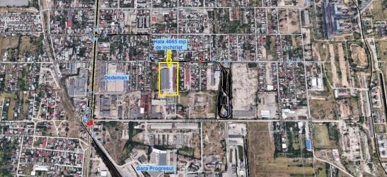 Hala industriala 4.665 mp + teren 8.500 mp