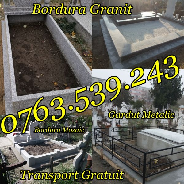 Imprejmuire Morminte Gardut Metalic Bordura Mozaic Granit-1