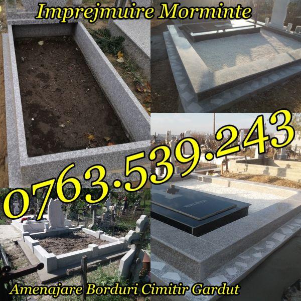 Imprejmuire Morminte Gardut Metalic Bordura Mozaic Granit-2