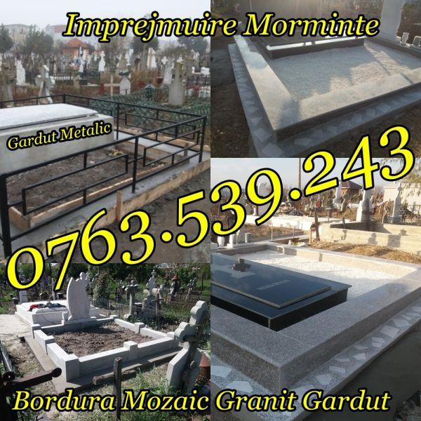 Imprejmuire Morminte Gardut Metalic Bordura Mozaic Granit-3