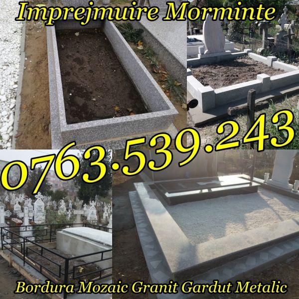 Imprejmuire Morminte Gardut Metalic Bordura Mozaic Granit-4