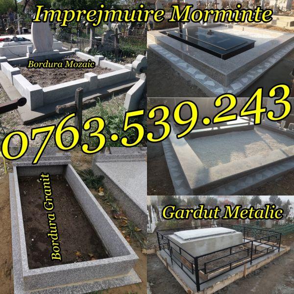 Imprejmuire Morminte Gardut Metalic Bordura Mozaic Granit-5