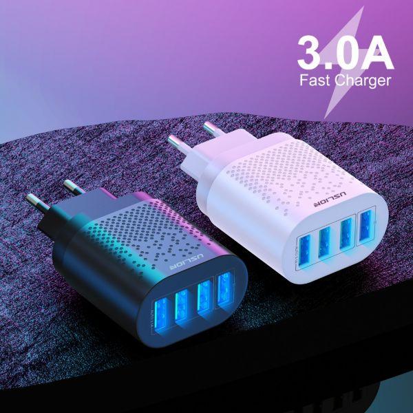 Incarcator 4x USB Incarcare Rapida 3.1A Qualcomm 3.0 cu Multiple Prote-2