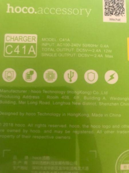 Incarcator priza 2 intrari + cablu USB iPhone -2