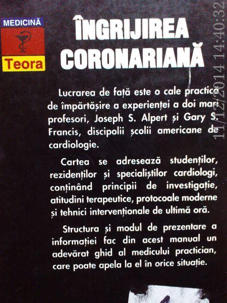 Ingrijirea coronariana , Joseph S. Alpert , Gary S.Francis ,1996-3