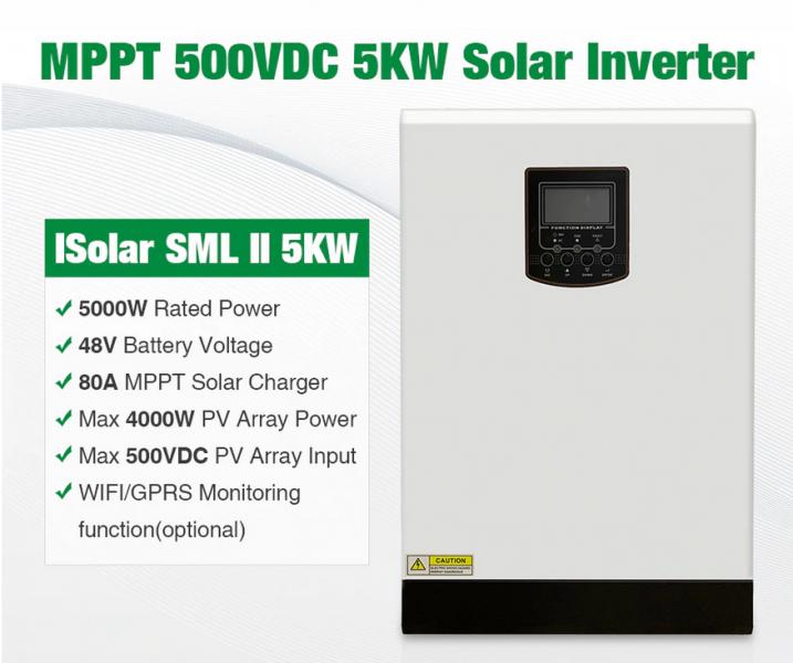 Invertor solar automat mppt 5000W (5kw) -1