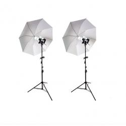 Kit lumina 2x stativ +2x umbrela difuzie +2x suport stativ dublu