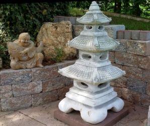 Lampa japoneza/felinar din beton,felinar japonez,statueta beton
