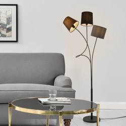Lampadar Treviso, 3 x E14, max. 40W, 145 cm, metal/tesatura