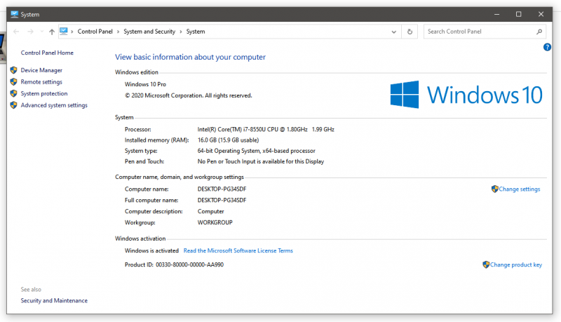 Laptop DELL Inspiron 5570, i7 8550U, 16GB RAM, 256GB SSD + Rucsac-9