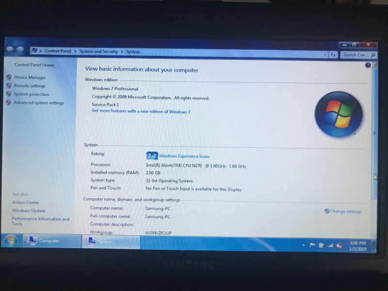 Laptop Samsung 10 inch Led - windows instalat - functioneaza bine-11