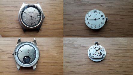 Lot 9 ceasuri defecte pentru piese sau restaurare